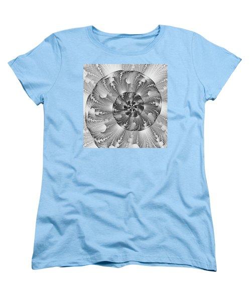 Women's T-Shirt (Standard Cut) featuring the digital art Shades Of Silver by Lea Wiggins