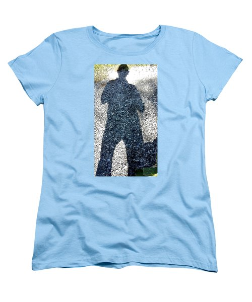 Shadow Man Women's T-Shirt (Standard Cut) by Richard Ortolano