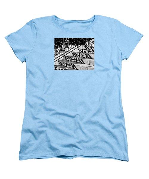 Shadow On The Rotunda Stairs Women's T-Shirt (Standard Cut)