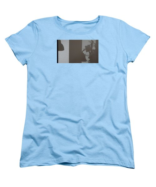 Women's T-Shirt (Standard Cut) featuring the mixed media Shadow Panel 1 by Don Koester