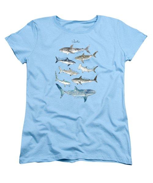 Sharks Women's T-Shirt (Standard Cut) by Amy Hamilton