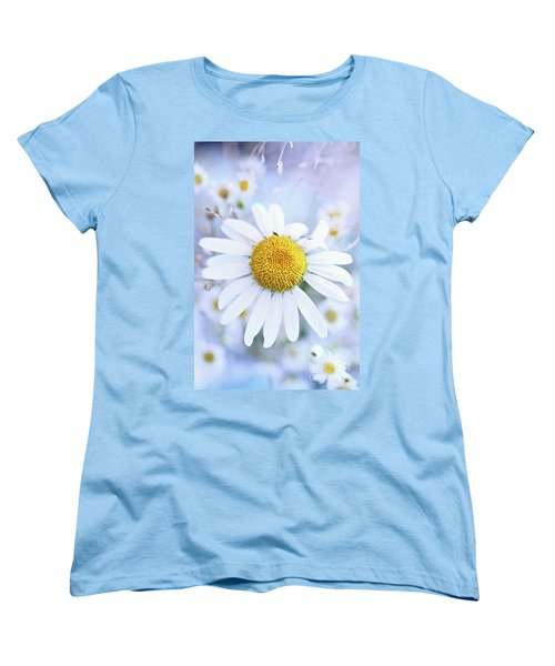 Shasta Daisy Women's T-Shirt (Standard Cut) by Stephanie Frey
