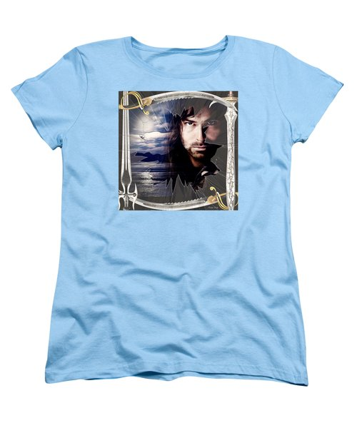 Shattered Kili With Swords Women's T-Shirt (Standard Cut) by Kathy Kelly