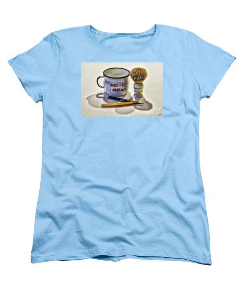 Women's T-Shirt (Standard Cut) featuring the photograph Shaving Still Life by Walt Foegelle