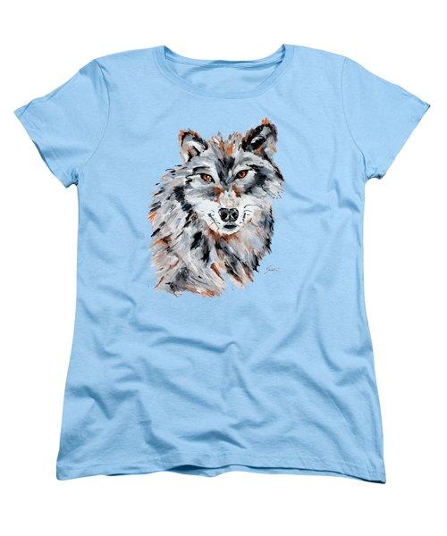 She Wolf - Animal Art By Valentina Miletic Women's T-Shirt (Standard Cut) by Valentina Miletic