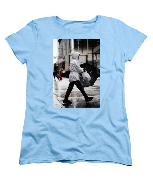 Women's T-Shirt (Standard Cut) featuring the photograph Sheild Of Rain  by Empty Wall