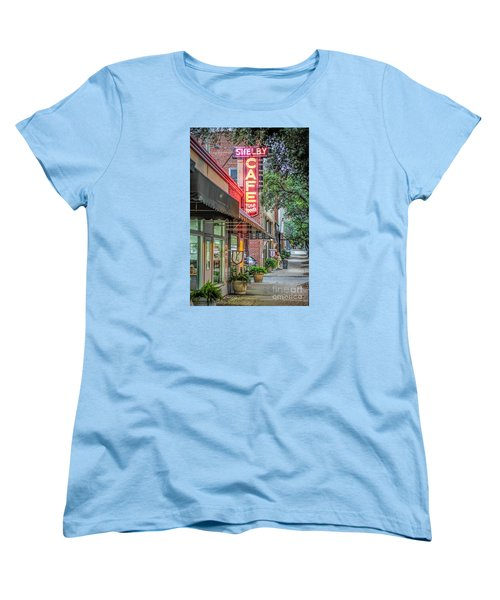 Shelby Cafe Women's T-Shirt (Standard Cut) by Marion Johnson