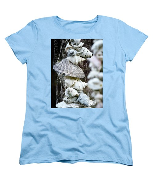 Women's T-Shirt (Standard Cut) featuring the photograph Shells Composition by Yurix Sardinelly