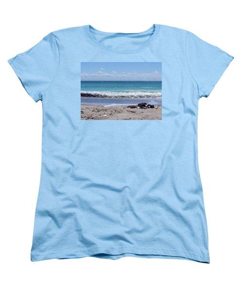 Women's T-Shirt (Standard Cut) featuring the photograph Shells On The Beach by Sandi OReilly