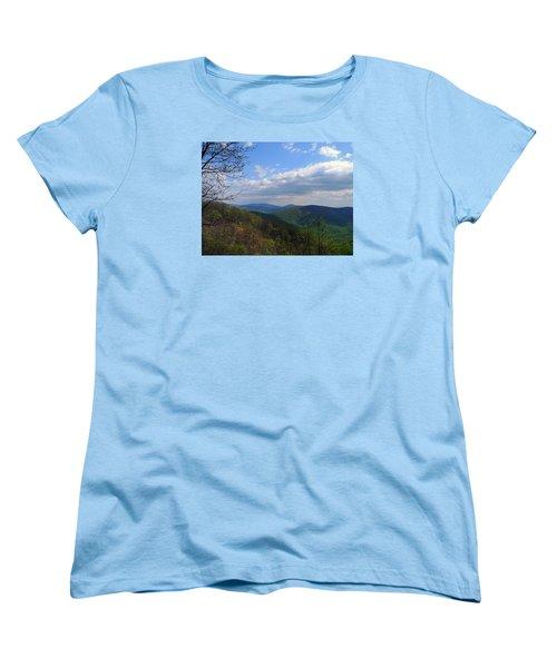 Women's T-Shirt (Standard Cut) featuring the photograph Shenandoah Skies by Lynda Lehmann