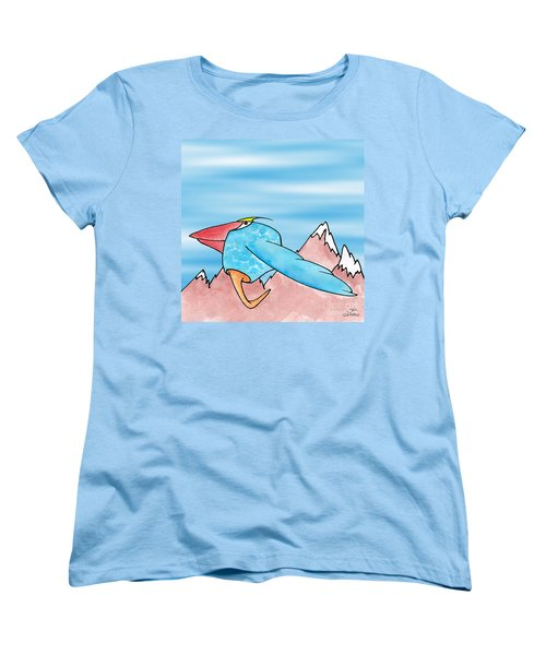 Women's T-Shirt (Standard Cut) featuring the digital art Shikoba by Uncle J's Monsters