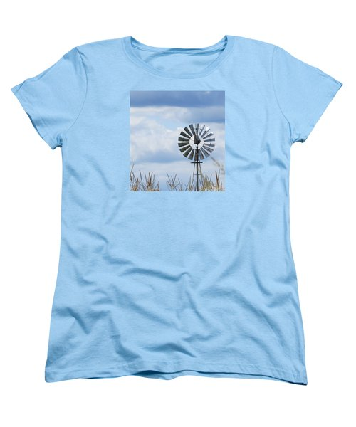 Shiny Windmill Women's T-Shirt (Standard Cut) by Jeanette Oberholtzer