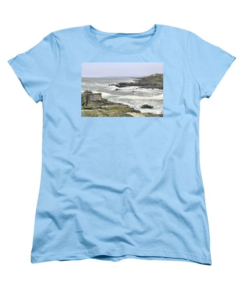 Women's T-Shirt (Standard Cut) featuring the digital art Shipwrecked by Sharon Batdorf
