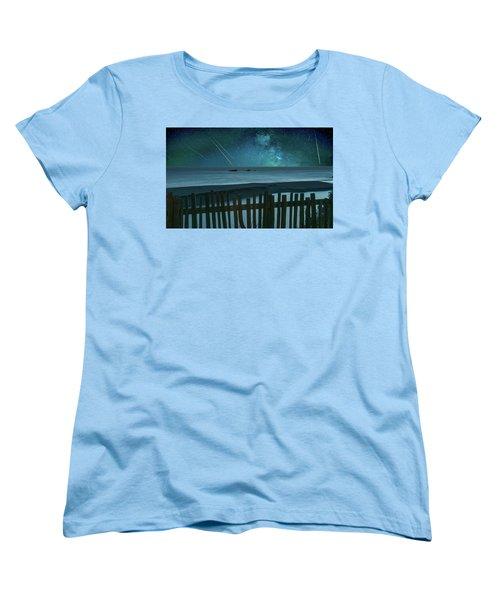 Shooting Stars Women's T-Shirt (Standard Cut) by Marius Sipa