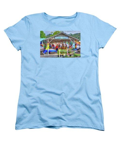 Shop Local Women's T-Shirt (Standard Cut) by Dale R Carlson