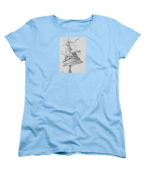 Women's T-Shirt (Standard Cut) featuring the drawing Plasma Tree by Charles Bates
