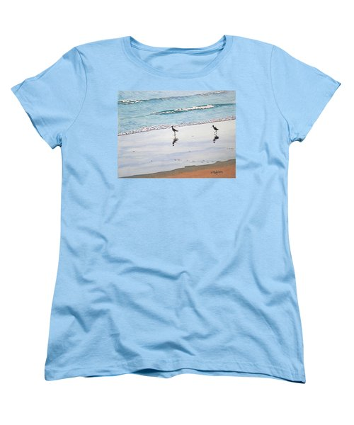 Shore Birds Women's T-Shirt (Standard Cut) by Mike Robles
