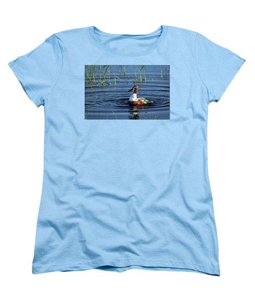 Women's T-Shirt (Standard Cut) featuring the photograph Shoveler by Jean Noren