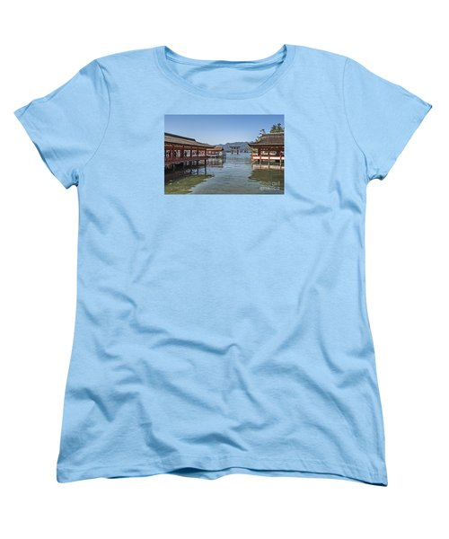 Women's T-Shirt (Standard Cut) featuring the photograph Shrine Over Water by Pravine Chester