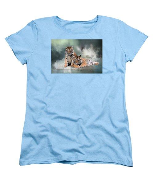 Siberian Twins Women's T-Shirt (Standard Cut) by Inge Riis McDonald