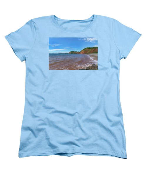 Women's T-Shirt (Standard Cut) featuring the photograph Sidmouth Jurassic Coast by Scott Carruthers