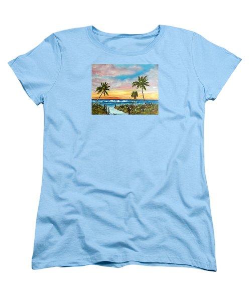Siesta Key At Sunset Women's T-Shirt (Standard Cut) by Lloyd Dobson