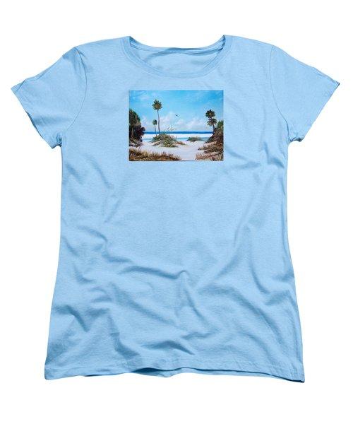 Siesta Key Fun Women's T-Shirt (Standard Cut) by Lloyd Dobson