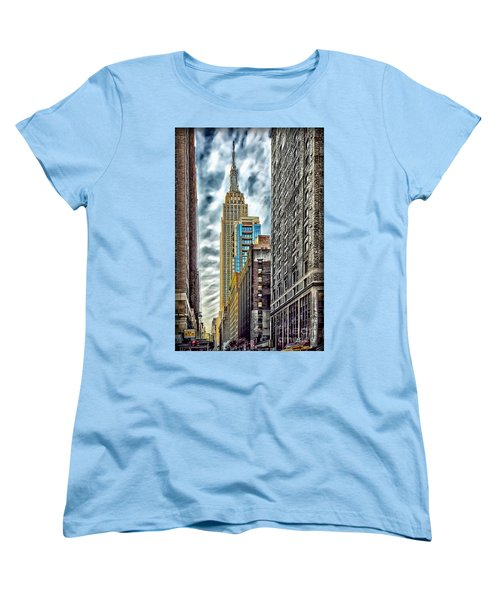 Women's T-Shirt (Standard Cut) featuring the photograph Sights In New York City - Skyscrapers 10 by Walt Foegelle