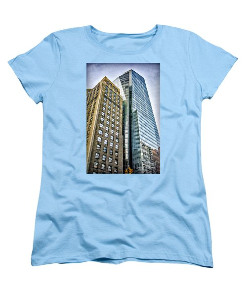 Women's T-Shirt (Standard Cut) featuring the photograph Sights In New York City - Skyscrapers by Walt Foegelle