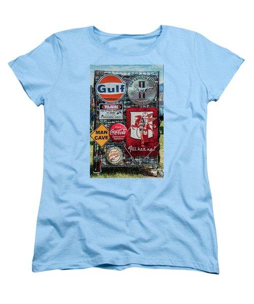 Women's T-Shirt (Standard Cut) featuring the photograph Sign Rack by Trey Foerster
