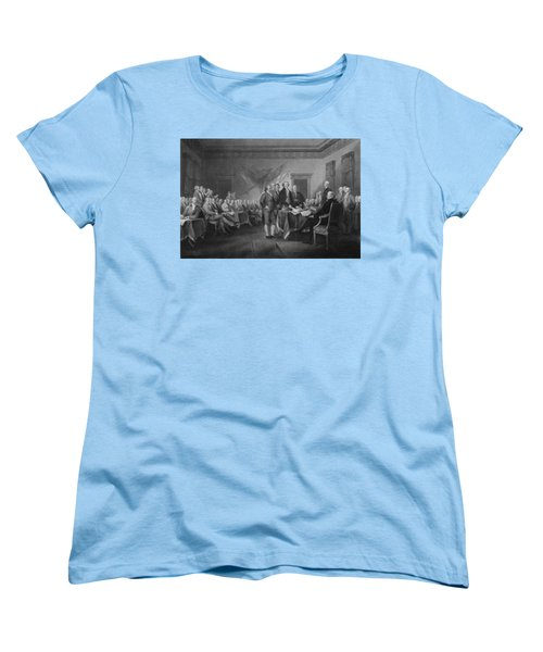 Signing The Declaration Of Independence Women's T-Shirt (Standard Cut) by War Is Hell Store