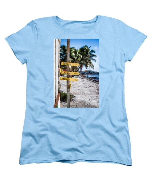 Women's T-Shirt (Standard Cut) featuring the photograph Signs by Lawrence Burry