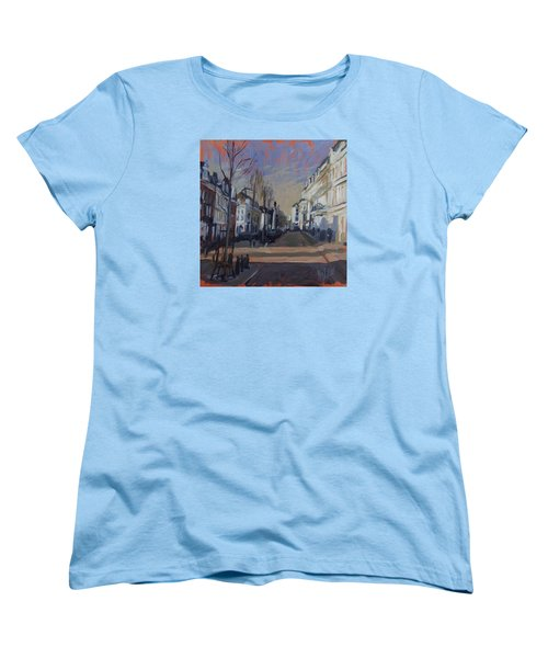 Women's T-Shirt (Standard Cut) featuring the painting Silence Before The Storm by Nop Briex