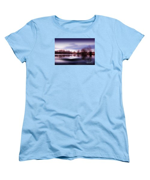 Silence Lake  Women's T-Shirt (Standard Cut) by Franziskus Pfleghart