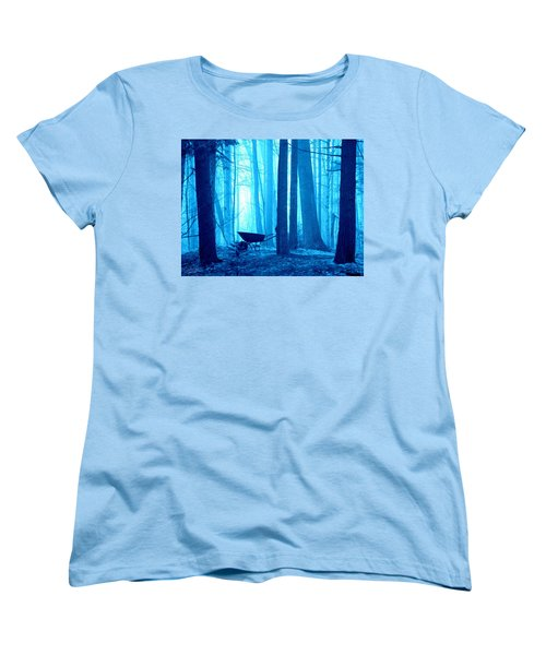 Women's T-Shirt (Standard Cut) featuring the photograph Silent Forest by Al Fritz