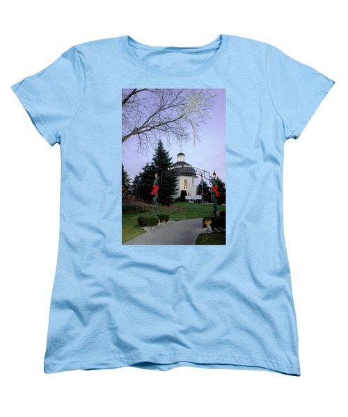 Women's T-Shirt (Standard Cut) featuring the photograph Silent Night Chapel by LeeAnn McLaneGoetz McLaneGoetzStudioLLCcom