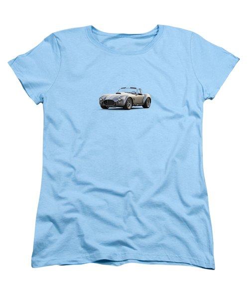 Women's T-Shirt (Standard Cut) featuring the digital art Silver Ac Cobra by Douglas Pittman