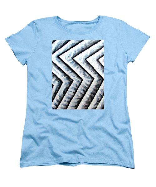 Silver Glass Waves Study 1  Women's T-Shirt (Standard Cut) by Luke Galutia