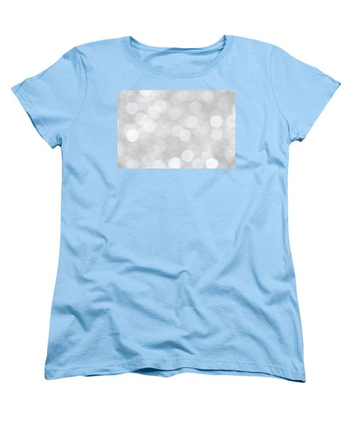 Silver Grey Bokeh Abstract Women's T-Shirt (Standard Cut) by Peggy Collins