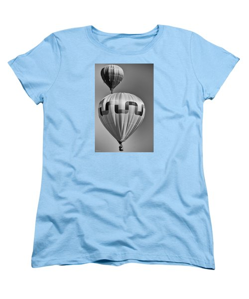 Women's T-Shirt (Standard Cut) featuring the photograph Silver Sky Balloons by Kevin Munro