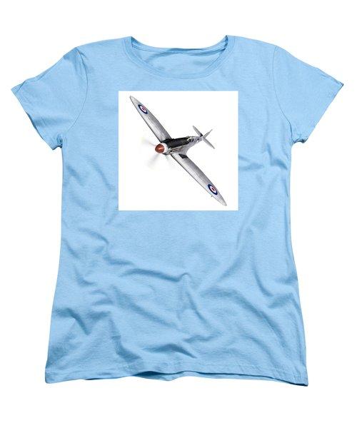 Silver Spitfire Pr Xix Cutout Women's T-Shirt (Standard Cut) by Gary Eason