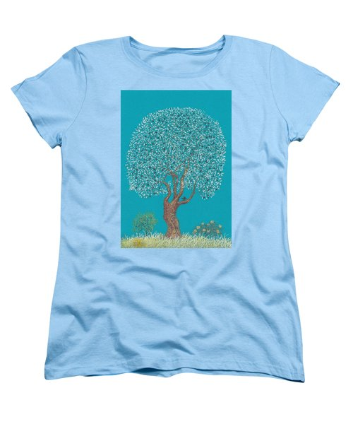 Silver Tree Women's T-Shirt (Standard Cut) by Charles Cater
