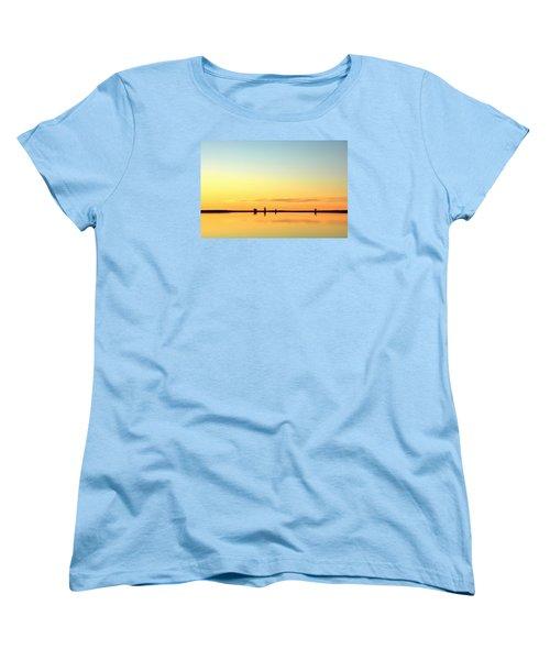 Simple Sunrise Women's T-Shirt (Standard Cut) by Fiskr Larsen