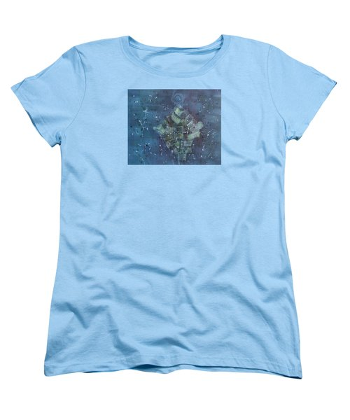 Women's T-Shirt (Standard Cut) featuring the painting Simpleness Is Happiness by Min Zou