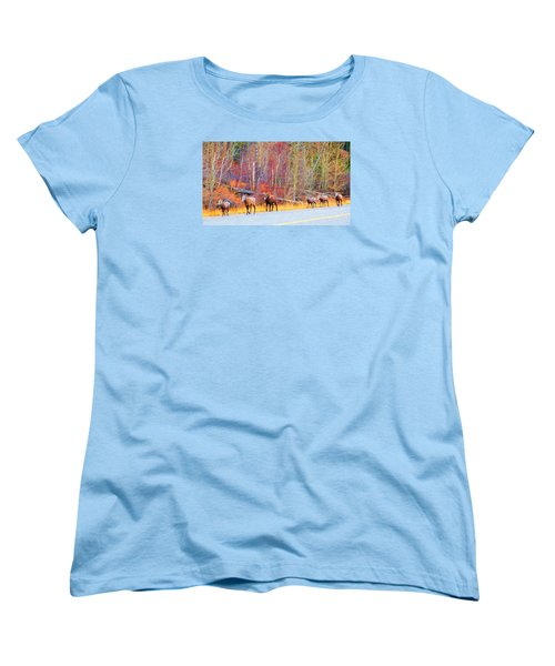 Single File For Safety Women's T-Shirt (Standard Cut)