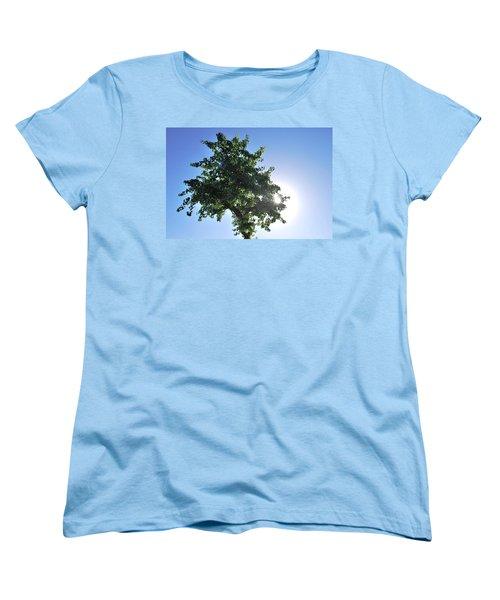Single Tree - Sun And Blue Sky Women's T-Shirt (Standard Cut) by Matt Harang