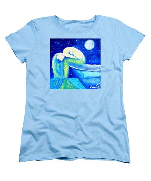 Siren Sea Women's T-Shirt (Standard Cut) by Dawn Harrell