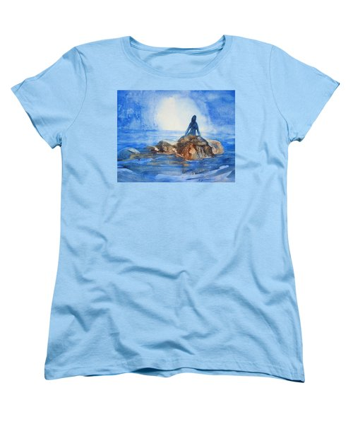 Women's T-Shirt (Standard Cut) featuring the painting Siren Song by Marilyn Jacobson