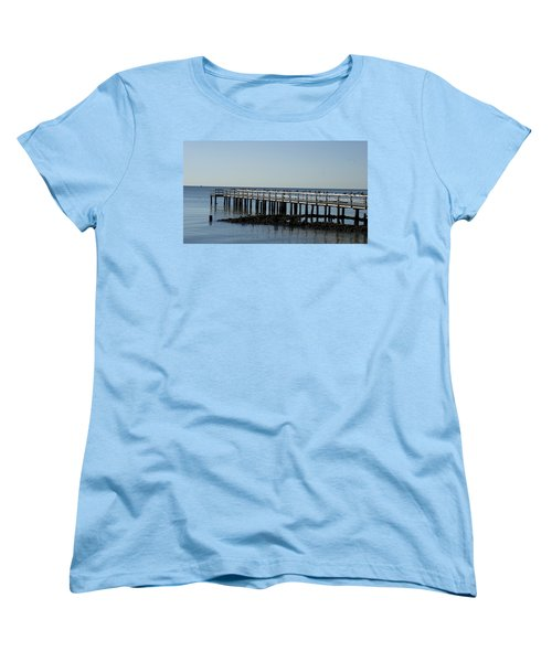 Sittin' On The Dock By The Bay Women's T-Shirt (Standard Cut) by Charles Kraus