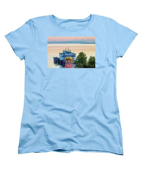 Six O'clock Ferry.2 Women's T-Shirt (Standard Cut) by E Faithe Lester